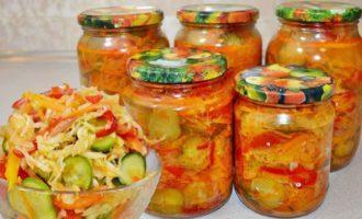 Vkusnejshaja-zakuska---salat-iz-kapusty,-ogurcov,-morkovi-i-luka-na-zimu